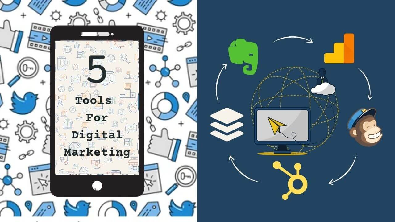 5 Digital marketing tools to help you transform your online presence as a